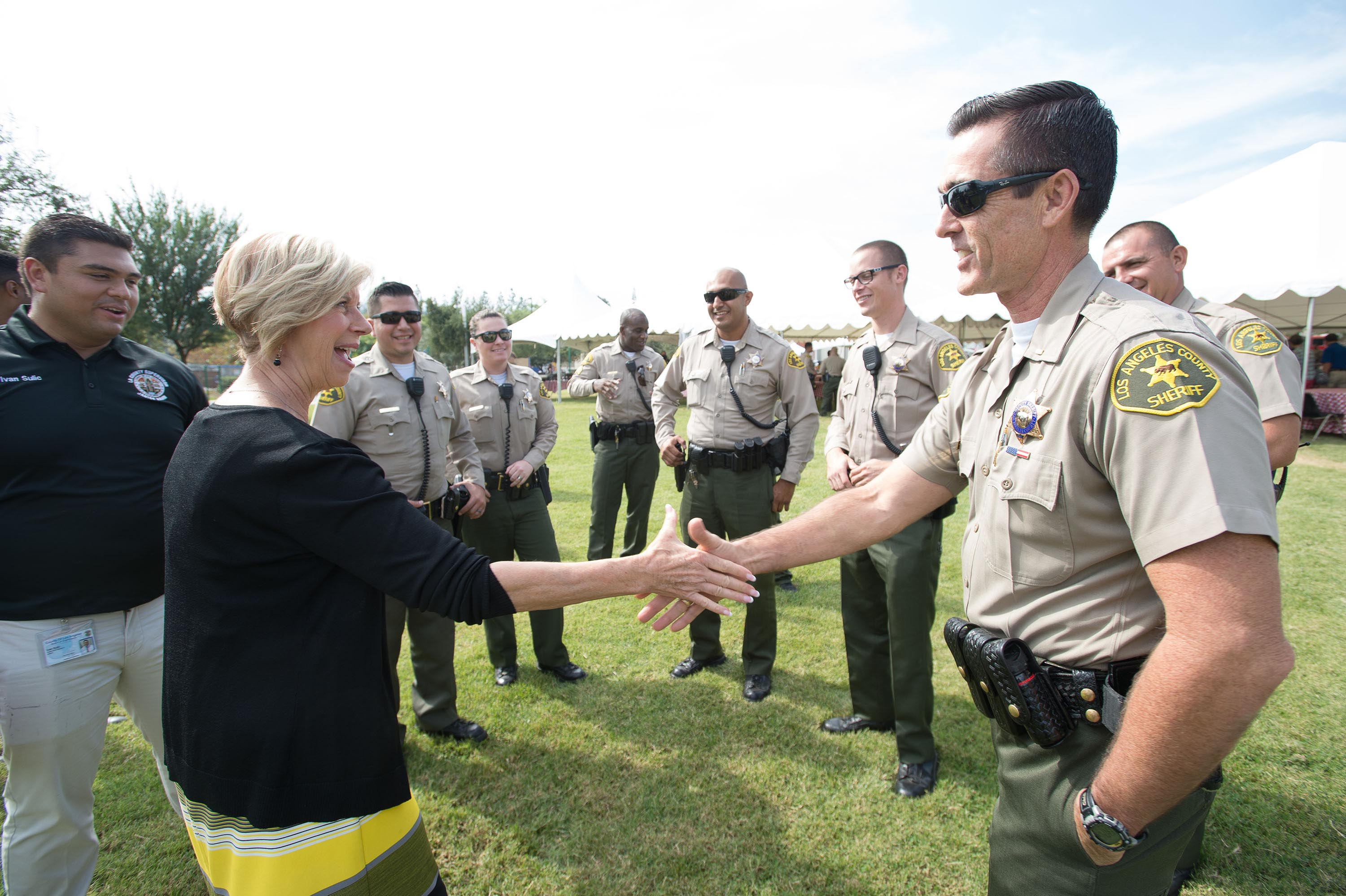 District 4 – Supervisor Janice Hahn<br>  <b>Oct. 19, 2017 – Public Safety Appreciation BBQ.</b><br><i>Photo by Bryan Chan / Board of Supervisors</i>