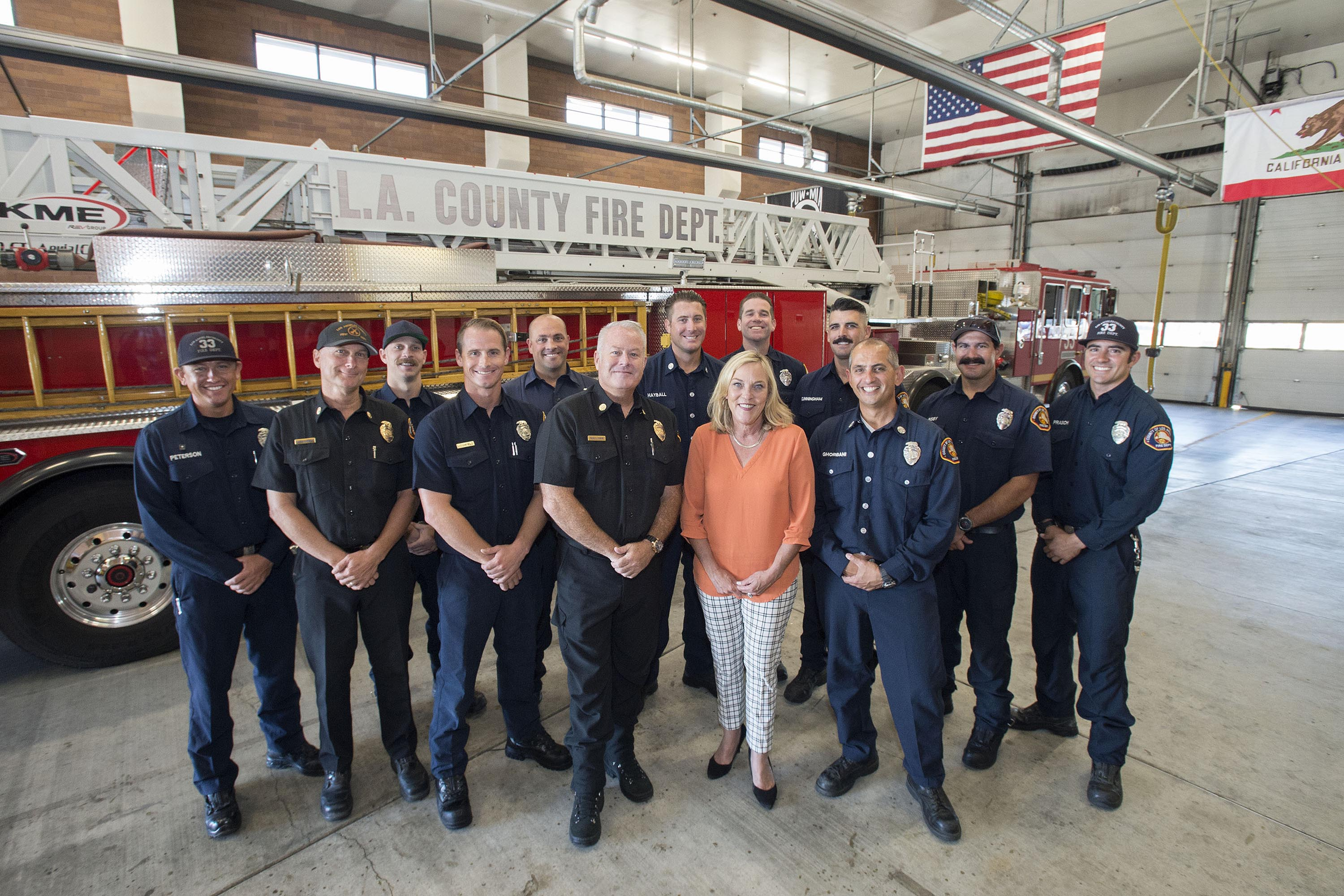 District 5 – Supervisor Kathryn Barger<br> <b>Sept. 20, 2019 – LACO Fire Station 33 visit. </b><br> <i>Photo by Diandra Jay / Board of Supervisor</i>