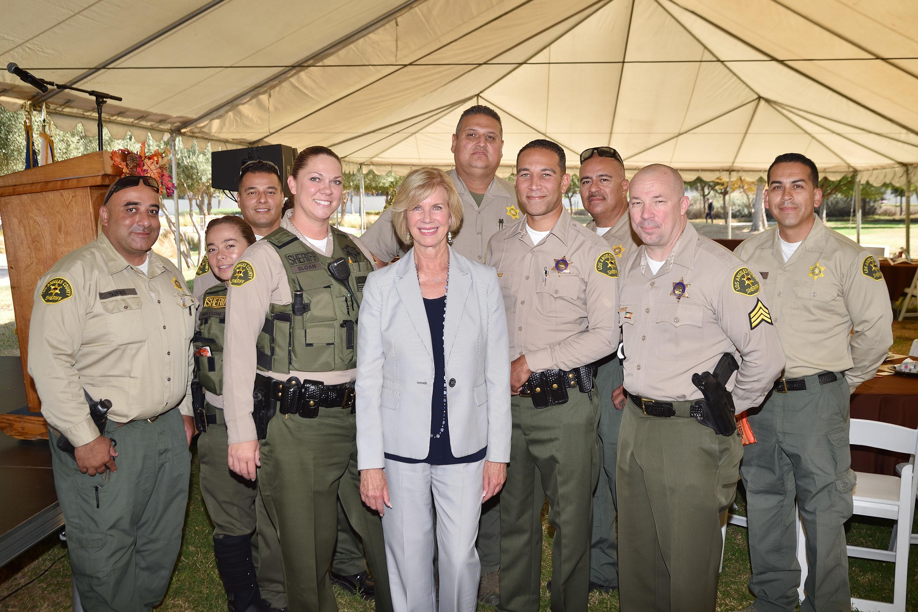 District 4 – Supervisor Janice Hahn<br> <b>Oct. 17, 2019 – Public Safety Officer Appreciation BBQ. </b><br> <i>Photo by Steven Georges / For the Board of Supervisors</i>