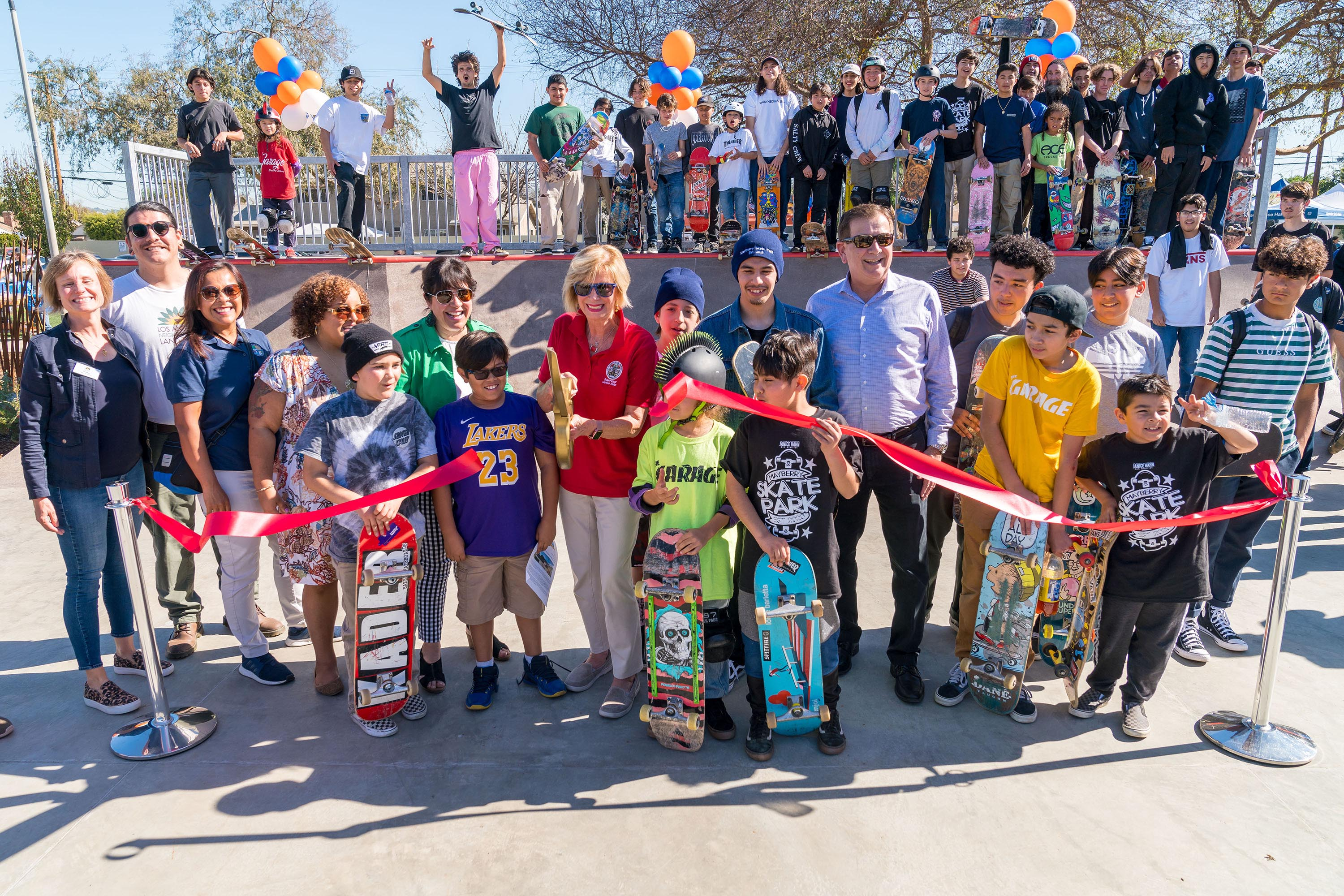 District 4 – Supervisor Janice Hahn<br> <b>Feb. 1, 2020 – Mayberry skatepark grand opening. </b><br> <i>Photo by Chris Valle / For the Board of Supervisors</i>