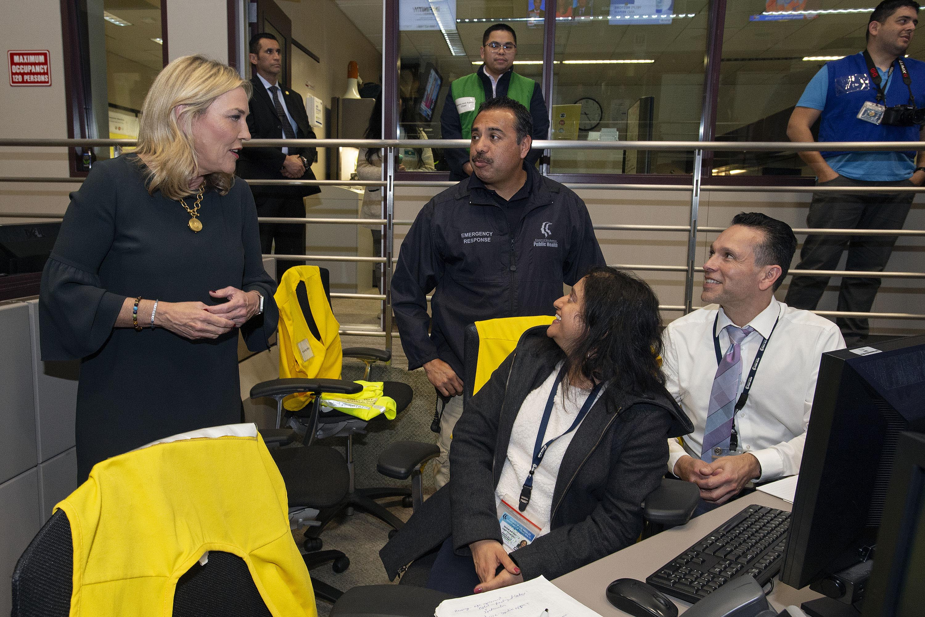 District 5 – Supervisor Kathryn Barger<br>  <b>March 12, 2020 - Emergency Operation Center Tour. </b><br> <i>Photo by Diandra Jay / Board of Supervisors</i>