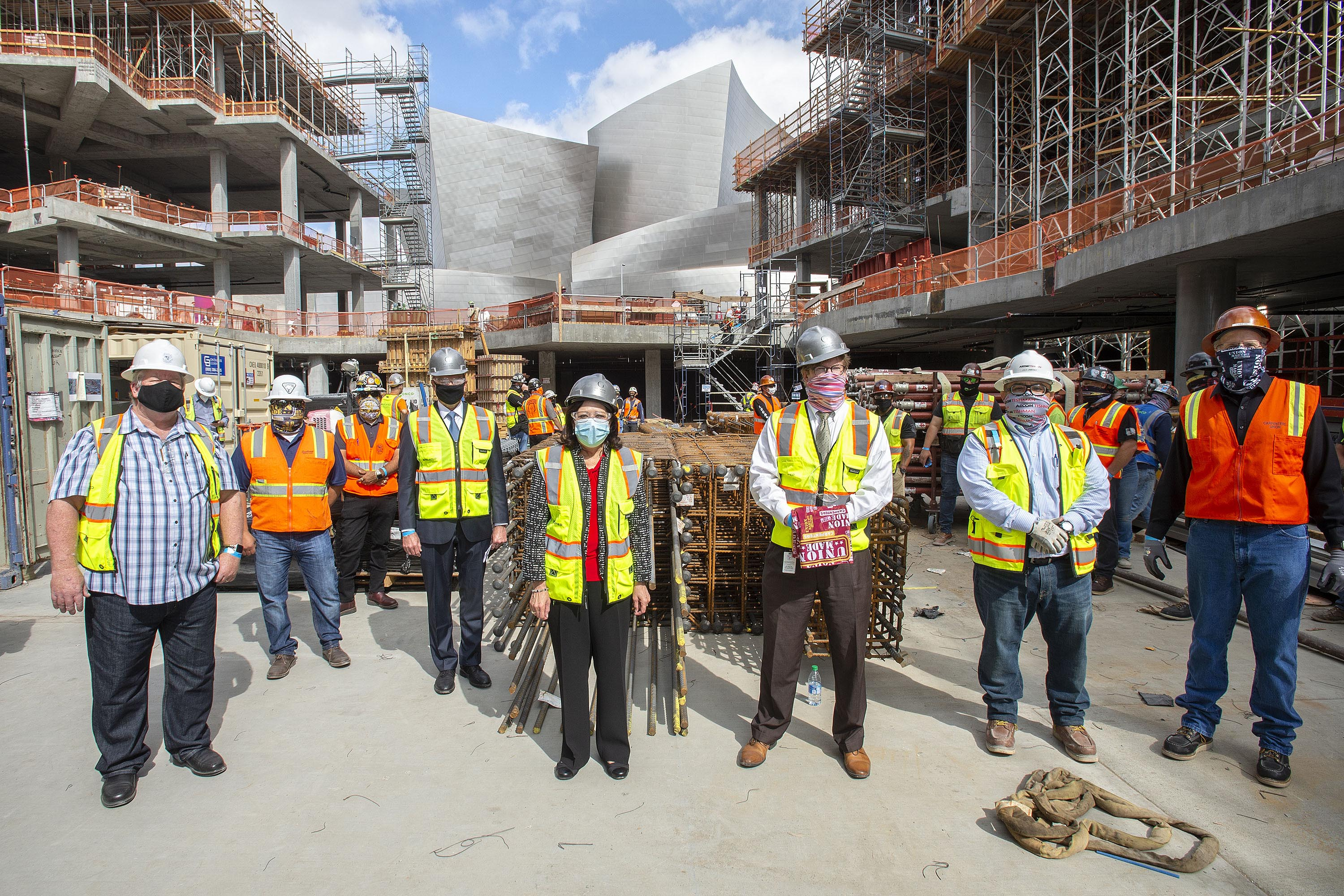 District 1 – Supervisor Hilda L. Solis<br> <b>May 11, 2020– The Grand construction site tour. </b><br> <i>Photo by Diandra Jay / Board of Supervisors</i>