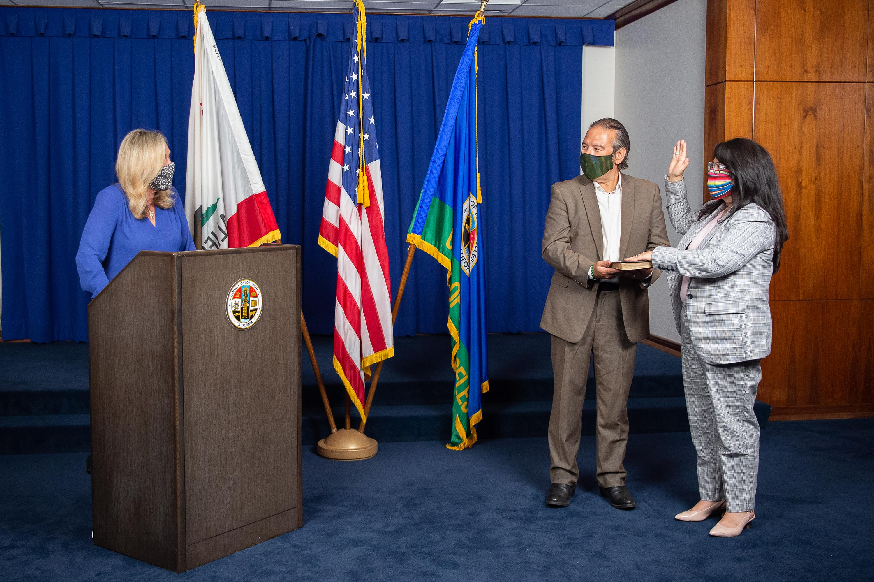 Executive Office<br>  <b>July 7, 2020 - Norma E. Garcia, Director, Parks and Recreation swearing in.</b><br>  <i>Photo by Bryan Chan / Board of Supervisors</i>