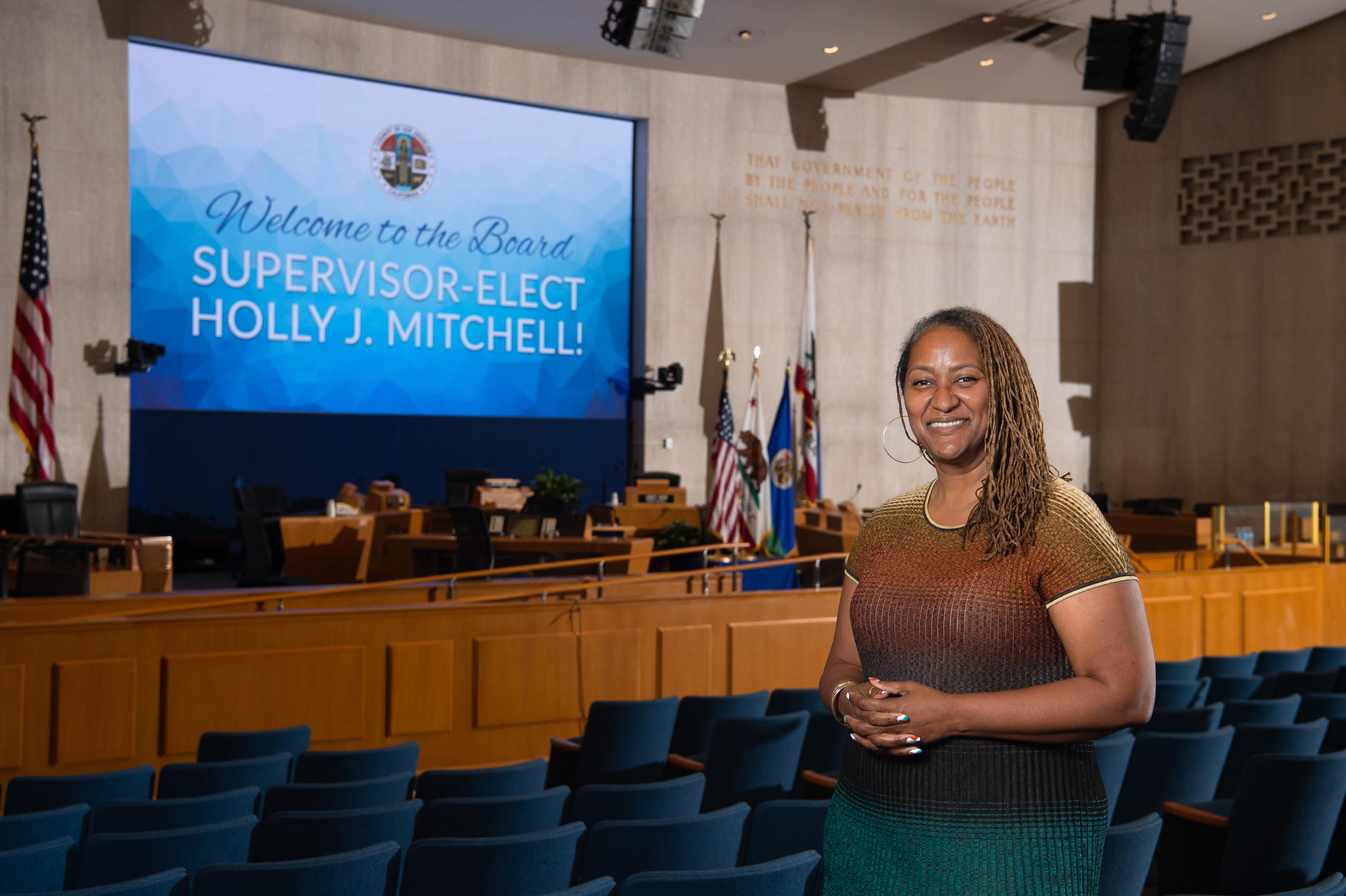 Executive Office<br>  <b>Nov. 16, 2020 – Supervisor-Elect Holly J. Mitchell's visit to the Kenneth Hahn Hall of Administration.</b><br>  <i>Photo by Bryan Chan / Board of Supervisors</i>