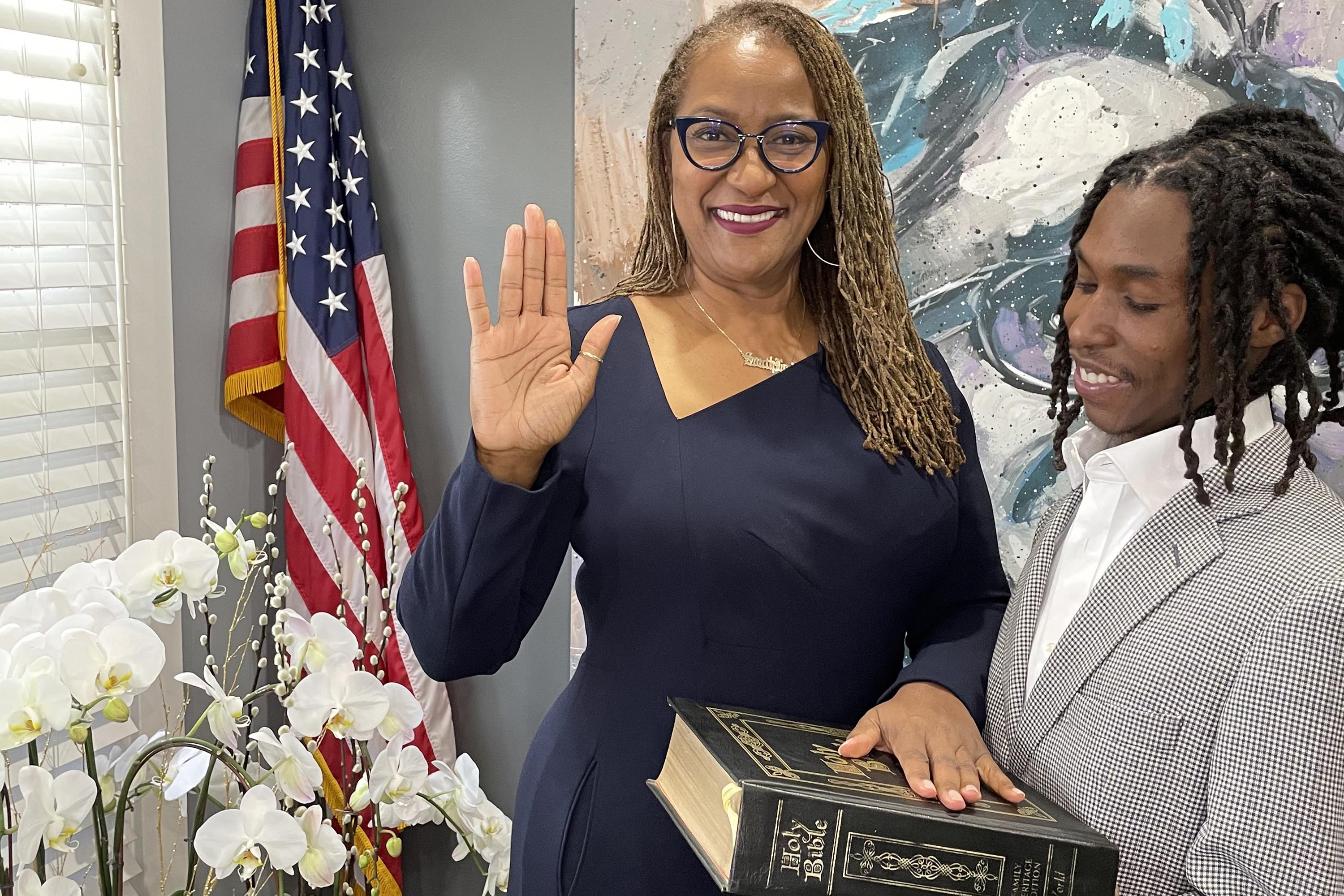 District 2 – Supervisor Holly J. Mitchell<br>  <b>Dec 6, 2020 – Oath of office for Supervisor Holly J. Mitchell.</b><br>   <i>Photo by Board of Supervisors</i>