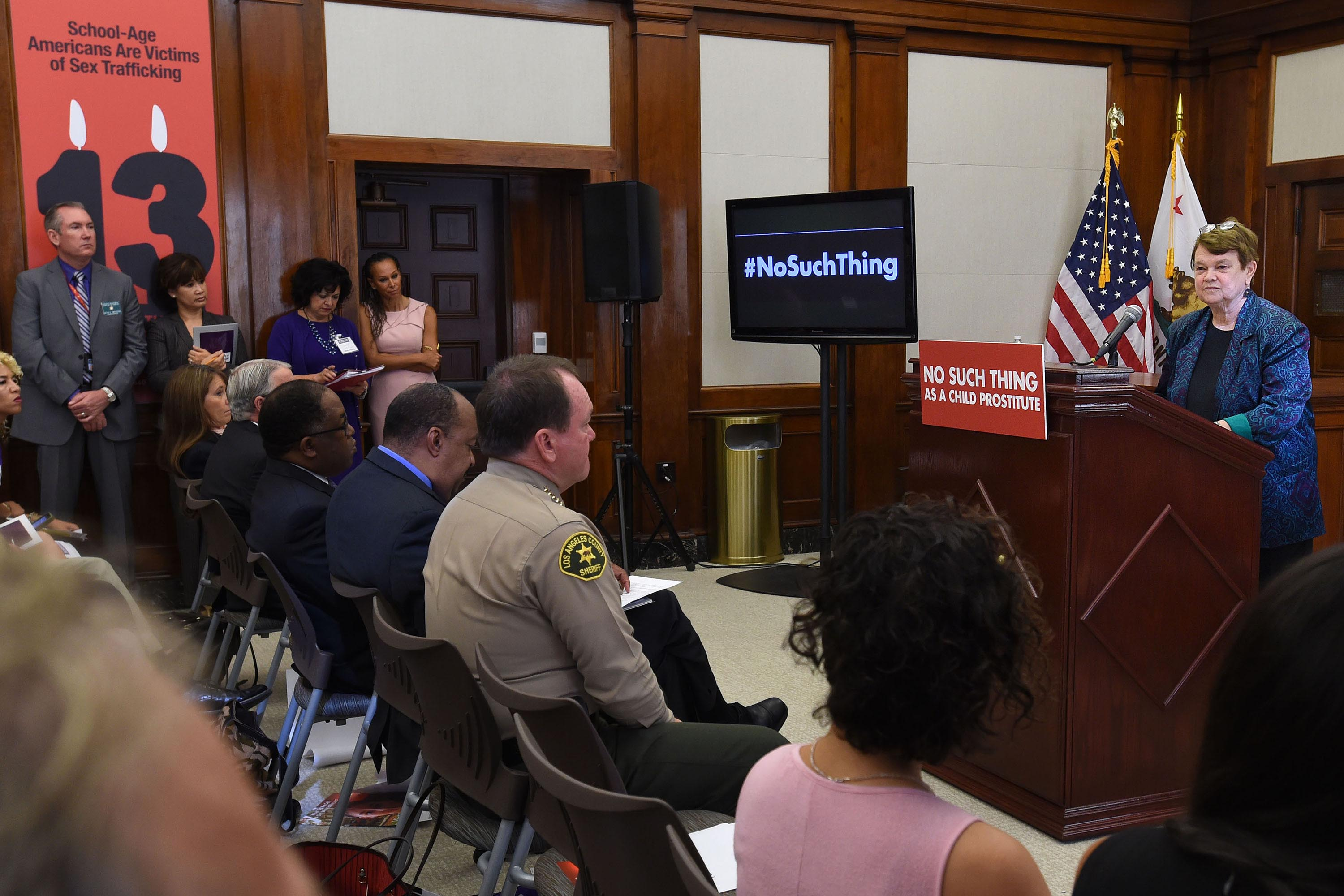 District 3 – Supervisor Sheila Kuehl<br> <b>Oct. 21, 2015 – No such thing as a child prostitute press conference. </b><br> <i>Photo by Mayra Vasquez / Board of Supervisors</i>