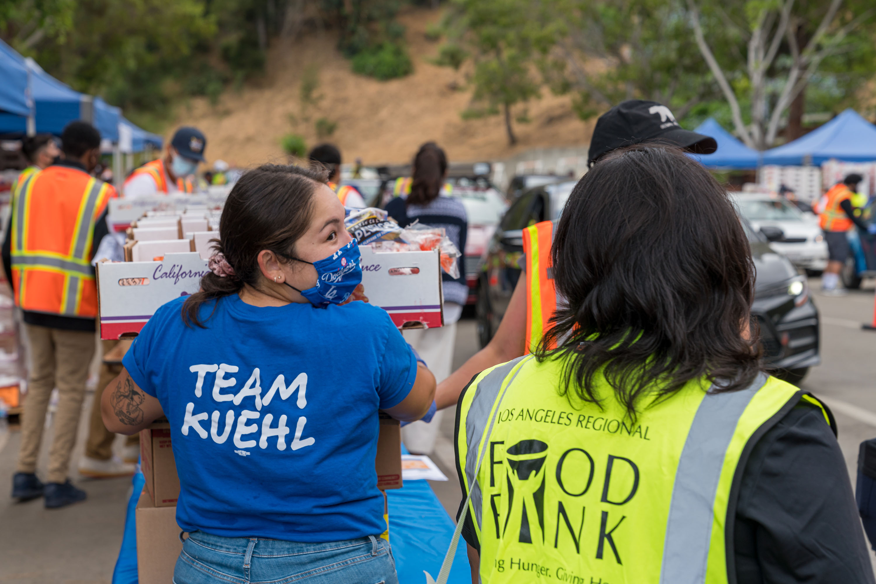 District 3 – Supervisor Sheila Kuehl<br> <b>June 17, 2020 - Hollywood Bowl Food Distribution. </b><br> <i>Photo by Chris Valle / For The Board of Supervisors</i>