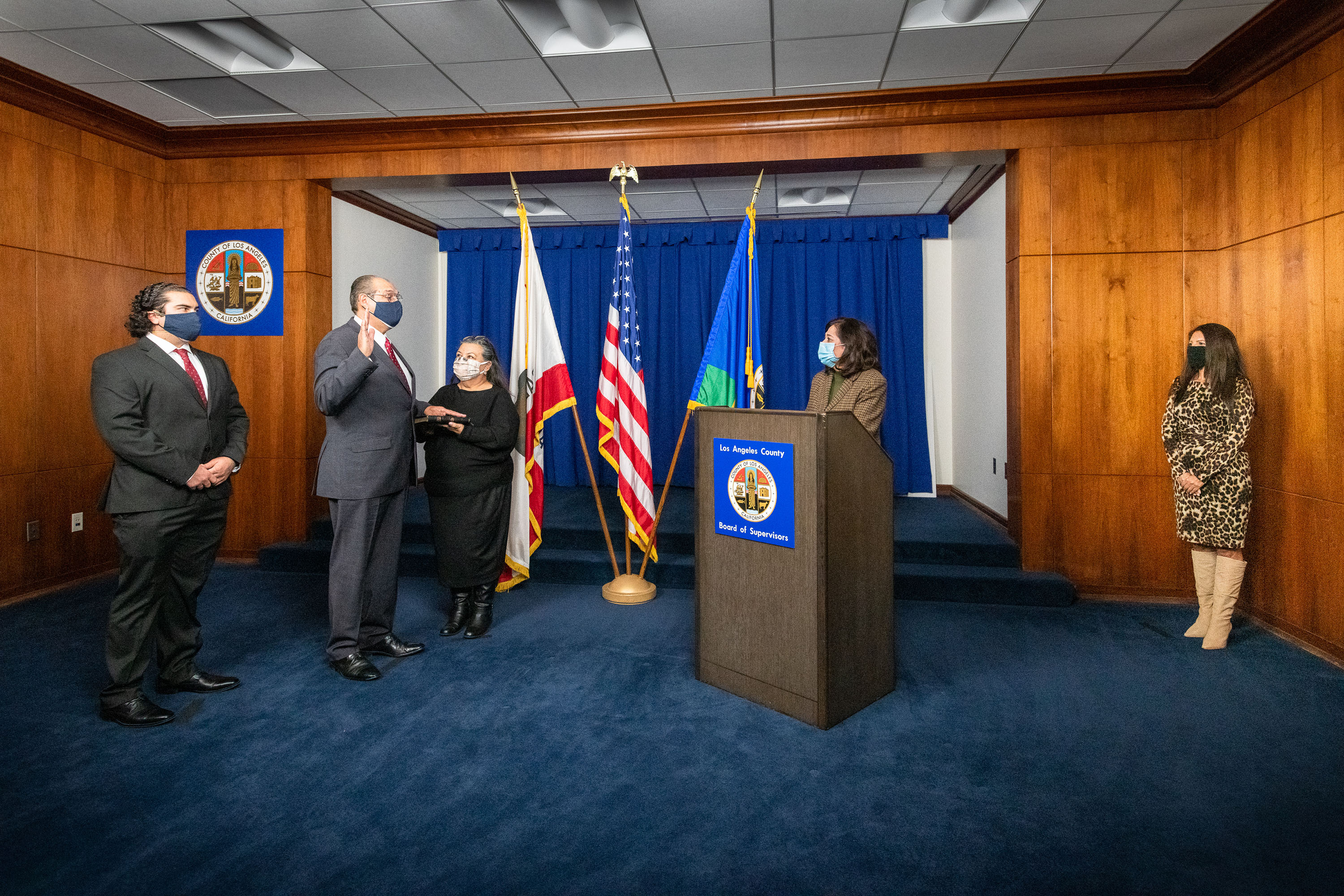 Executive Office<br><b>Jan. 27, 2021 - Adolfo Gonzales Chief Probation Officer Oath of Office </b><br>  <i>Photo by Bryan Chan / Board of Supervisors</i>