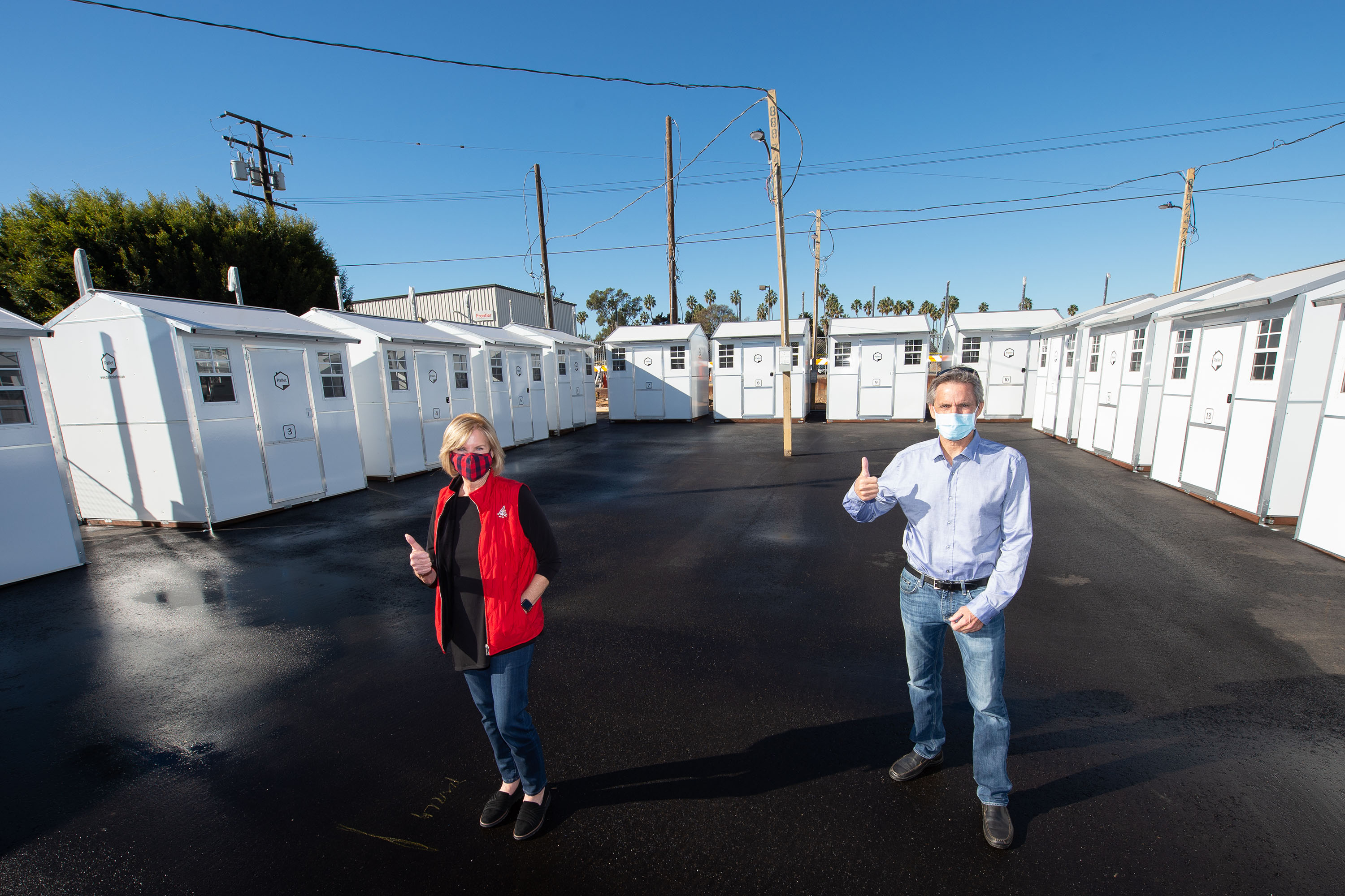 District 4 – Supervisor Janice Hahn<br> <b>Dec. 16, 2020 – Redondo Beach Pallet Shelters </b><br> <i>Photo by Bryan Chan / Board of Supervisors</i>