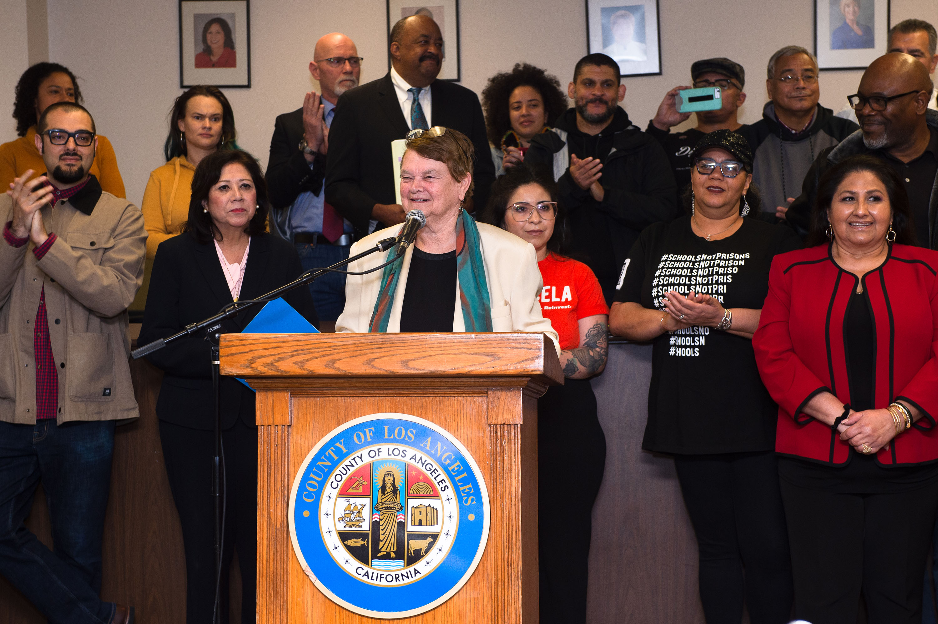 District 3 – Supervisor Sheila Kuehl<br> <b>March 10, 2020 – Alternatives to Incarceration Press Conference </b><br> <i>Photo by Bryan Chan / Board of Supervisors</i>