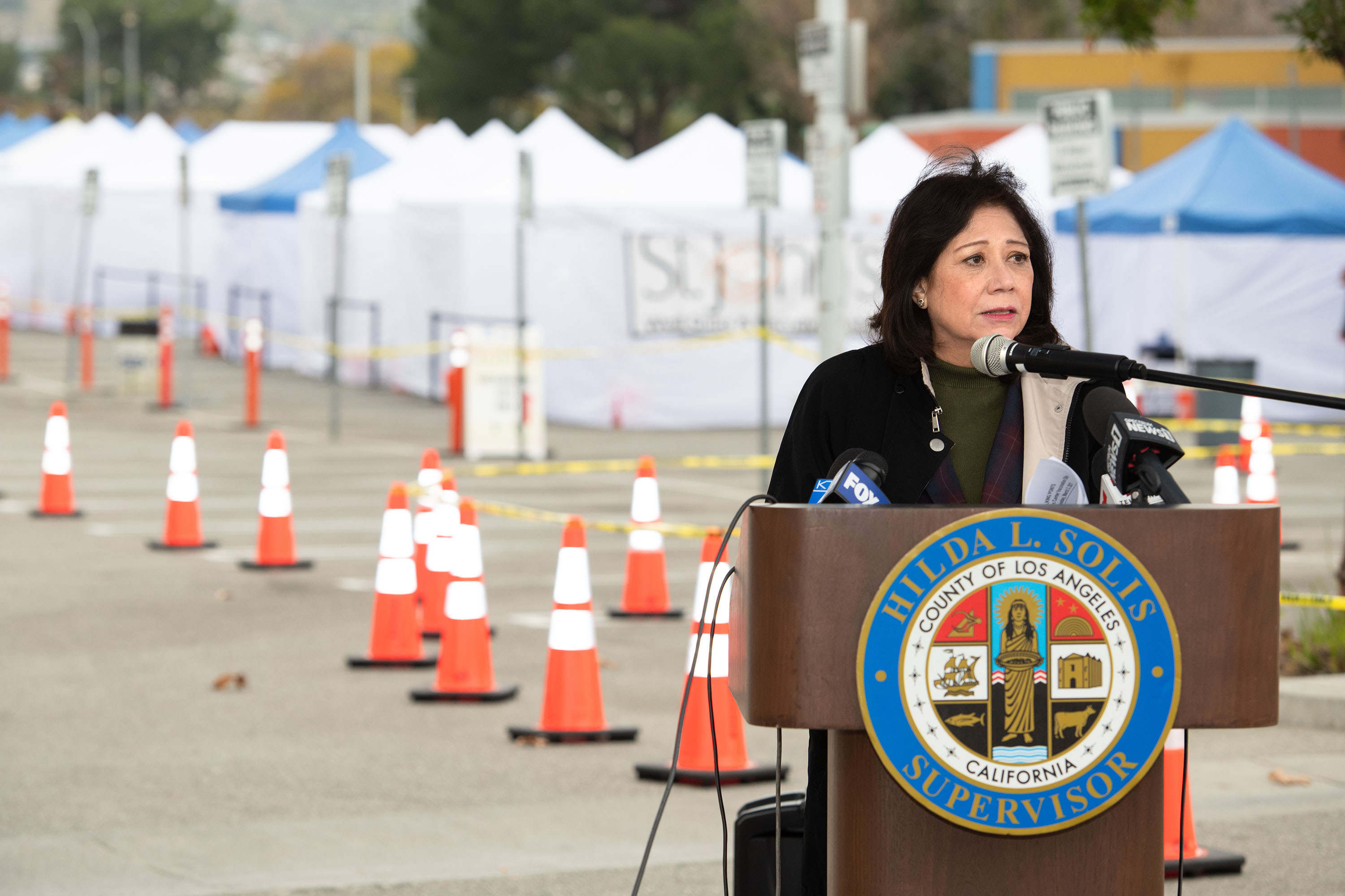 District 1 – Supervisor Hilda L. Solis<br> <b>March 3, 2021 - East LA COVID-19 vaccination clinic </b><br> <i>Photo by Bryan Chan / Board of Supervisors</i>