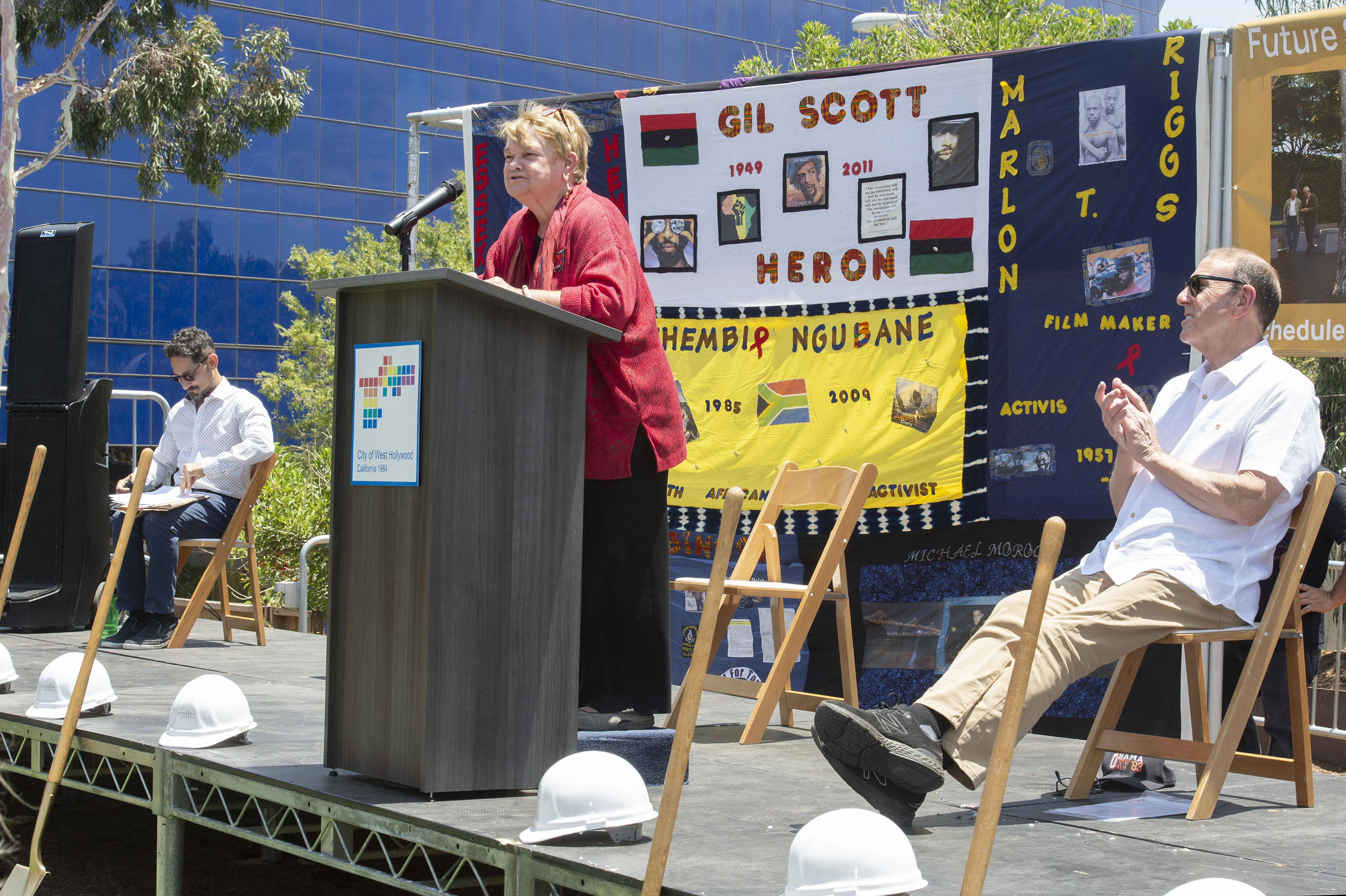 District 3 – Supervisor Sheila Kuehl<br> <b>June 5, 2021 – AIDS Monument Dedication</b><br> <i>Photo by Karen Quincy Loberg / For the Board of Supervisors</i>