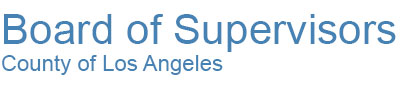 County of Los Angeles Board of Supervisors